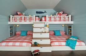 Beach House Bunk Room Beach Style Kids Grand Rapids By Bayberry Cottage