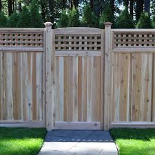 3 Ft X 6 Ft Western Red Cedar Arch Top Checker Lattice Fence Gate Amazon Co Uk Welcome