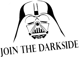 Amazon Com Join The Darkside Darth Vader 8 Vinyl Sticker Car Decal 8 White Automotive