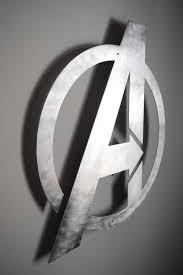 Avengers Logo Back Lit Floating Metal Wall Art Etsy Avengers Wall Art Metal Wall Art Avengers Logo