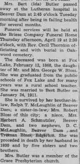 Obituary for Ida Butler - Newspapers.com