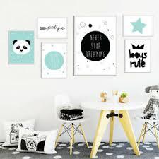 Cartoon Wall Art Canvas Poster Nursery Print Painting Nordic Kids Bedroom Decor Ebay