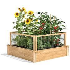 Amazon Com Greenes Fence 2 Ft X 8 Ft X 10 5 In Raised Garden Kit Cedar Garden Outdoor