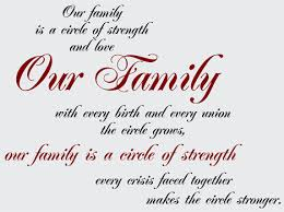 Family Quotes Sayings On Life Wall Decals Stickers Our Family Circle Of Strength Vinyl Wall Graphic