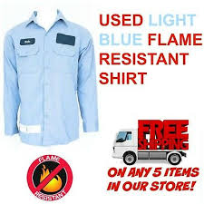 used flame resistant fr work shirts
