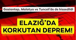 Deprem | Son dakika haberi: Elazığ'da korkutan deprem! Gaziantep ...