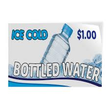 Buy Ice Cold Water Concession Decal Bottled Menu Sign Stand In Cheap Price On Alibaba Com