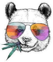 Cool Panda Bear In Sunglasses Sticker