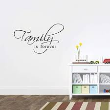 Amazon Com Family Wall Decals Stickers Family Is Forever Vinyl Wall Decal Lettering For Living Room Arts Crafts Sewing