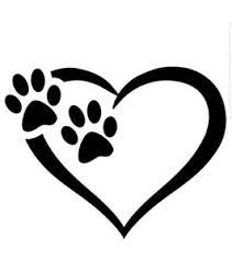 Paw Heart Dogs Vinyl Decal Car Bumper Sticker Laptop Pet Paw Prints Love Ebay