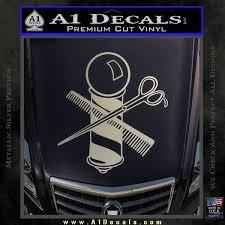 Barber Pole Scissors Decal Sticker V1 A1 Decals
