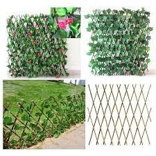 Fence Garden Extendable Artificial Leaves Vine Fence Expandable Faux Ivy Privacy Fence Artificial Hedge Shopee Singapore