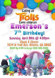 Trolls Birthday Invitation Jpg 1500 2100 Invitaciones De