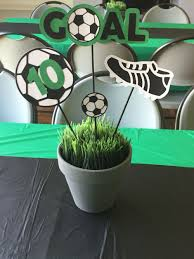 Soccer Themed Birthday Centerpieces Festa De Futebol Centros
