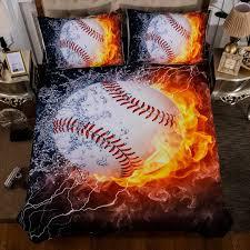 3d baseball duvet cover pillow case