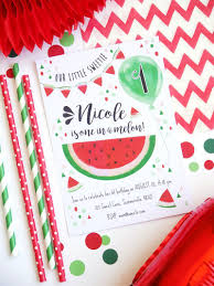 Watermelon Party Printable Invitations Cumpleanos De Sandia