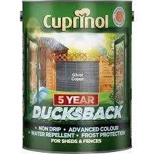 Cuprinol Ducksback Shed Fence Treatment 5l Silver Copse