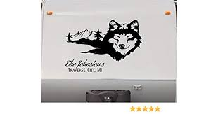 Rv Trailer Camper Exterior Parts Auto Parts And Vehicles Full Color Wolf Mountain Scene Decal For Rv Travel Trailer Camper Motorcoach Megeriancarpet Am