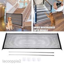 Lacooppia2 Pet Dogs Safety Fence Isolation Gate For Doggies Indoor Outdoor Easy Install Shopee Philippines