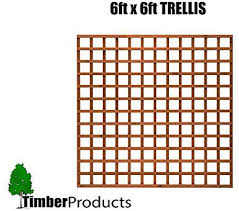 Total Sheds 6x6 Pack Of X3 1 83m X 1 83m 6ft X 6ft Wooden Square Trellis