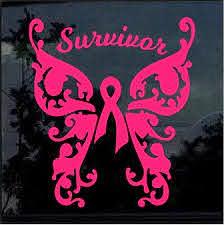 Breast Cancer Awareness Pink Ribbon Survivor Window Decal Sticker Custom Sticker Shop