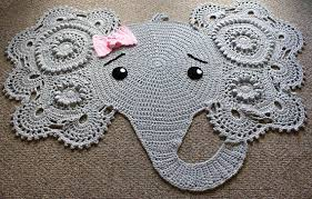 Crochet Elephant Rug Elephant Themed Nursery Decorative Etsy