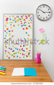Wooden Desk Magnetic Board Kids Room Stock Photo Edit Now 277887458