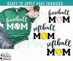 Iron On Transfer Or Sticker Decal S41 M Baseball Softball Mom Stickers By Stephanie