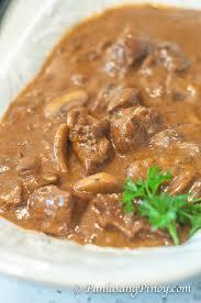 beef and mushroom braised stew