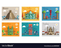 set of diffe cities for travel
