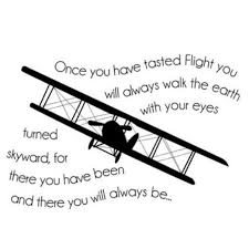 Shop Once You Have Tasted Flight Airplane Wall Art Decal Quote Words Lettering Decor Overstock 17292680