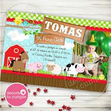 Kit Imprimible Granja Animalitos Vaca Caballito Chancho