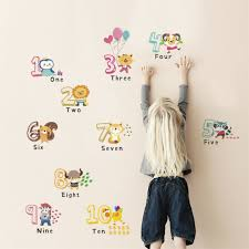 Funny Animal Number Alphabet Wall Sticker Kids Room Home Decor Wall Decals Ibr8y For Sale Online Ebay