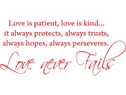 Red 22 X 9 5 Love Is Patient Love Is Kind Vinyl Wall Art Inspirational Quotes And Saying Home Decor Decal Sticker Walmart Com Walmart Com