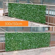 Artificial Fence Screen 300x150cm Decorative Plants Leaves Wedding Backdrop Panels Indoor Outdoor Wall Decoration Greenery Artificial Plants Aliexpress