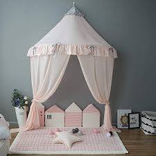 Amazon Com Oldpapa Bed Canopy Lace Mosquito Net With Gauze Curtain Unique Pendant Play Tent Bedding For Kids Playi Bed Tent Baby Bed Canopy Toddler Room Decor