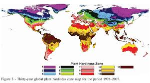 plant hardiness zones maps for the