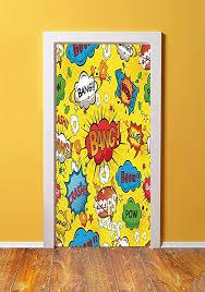 Amazon Com Superhero 3d Door Sticker Wall Decals Mural Wallpaper Humor Speech Bubbles Funky Vivid Bang Boom Bam Pow Fiction Symbols Artful Design Diy Art Home Decor Poster Decoration 30 3x78 2422 Multicolor Kitchen Dining