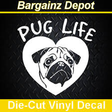 Life Is Better With Pugs Window Vinyl Decal Pug Love Pug Dog Decal Pug Decal Home Living Home Decor