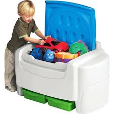 Little Tikes Sort N Store Kids Toy Storage Chest White And Blue Walmart Com Walmart Com