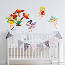 Flower Fairy Wall Decal Diy Cartoon Decorative Sticker For Baby Room Fairy Decor Girls Gift Removable Stickers For The Wall Stickers For Wall From Carrierxia 3 61 Dhgate Com