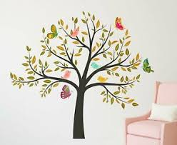 Colorful Tree With Birds Wall Decal Pvc Vinyl Living Room Wall Sticker Ebay