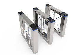 Cửa quay bằng thép không gỉ Bi Directional / Cổng bảo vệ chân máy thông minh