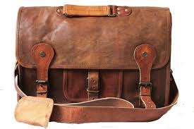 genuine leather messenger laptop bag