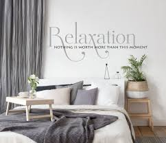 Relax Vinyl Wall Quote Lettering Bedroom Wall Decor Sign For Above Be Lasting Expressions