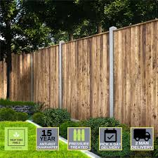 6x6 Heavy Duty Feather Edge Fence Panel Cheap Fence Panels