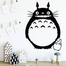 Cartoon Totoro Vinyl Wall Decals For Kids Room Bedroom Decor Animal Many Colours Wish