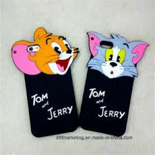 3d cute cartoon silicon tom and jerry