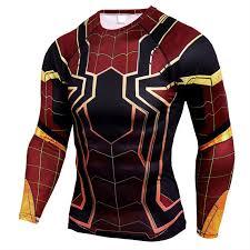 spiderman long sleeve pression shirt