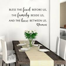 Bless The Food Before Us Wall Decal Kitchen Wall Decal Dining Etsy